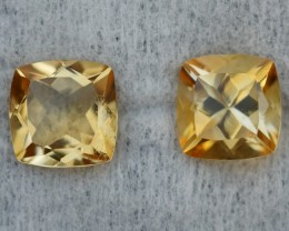 4.35 CRT GOLDEN PAIR YELLOW CITRINE-