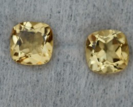 3.05 CRT GOLDEN PAIR YELLOW CITRINE-
