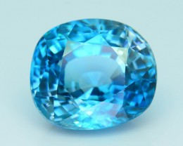 Gil Certified AAA Brilliance 6.84 ct Blue Zircon Cambodia SKU.8