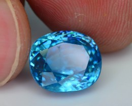 Gil Certified AAA Brilliance 6.99 ct Blue Zircon Cambodia SKU.8