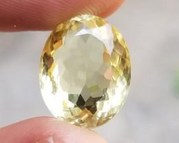 13Ct Lemon Quartz Clean Beautiful Natural Untreated Gemstone VA388