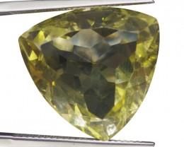 21.59 ct Triangle Lemon/Oro Verde Citrine