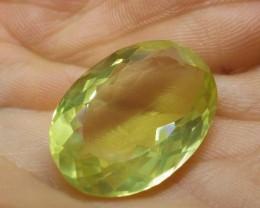 $1 No Reserve Auction -29.17 ct Oval Lemon/Oro Verde Citrine