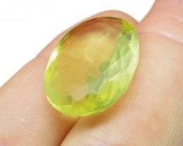 25.04 ct Oval Lemon/Oro Verde Citrine - $1 No Reserve Auction