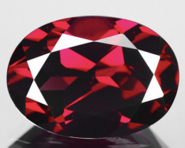 6.77 ct.Portugues Cut Natural Gem Top Pinkish Red Rhodolite Garnet {VIDEO}R