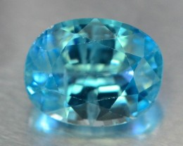 3.40 ct Natural Blue Zircon From Cambodia