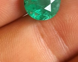 4. 30 CTS Emerald - VS/SI - Vivid Intense - Round cut - Oiled - Brazil