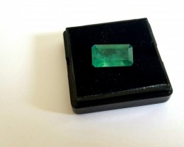 7.25 CTS -Emerald cut - Intense green - Oiled - Brazil