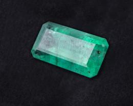 Untreated - 7.25 CTS -Emerald cut - Intense green - Brazil