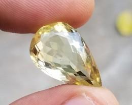 22x14mm Lemon Quartz Natural Untreated Pear Gemstone VA430