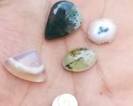 Mix Gemstones Lot of 5 Pcs Natural Untreated Stones VA432