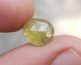 Green Sapphire Rose Cut Natural Gemstone Treated VA433