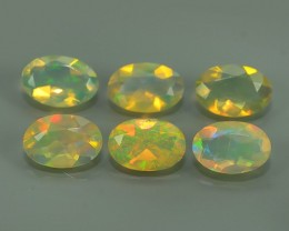 1.50 CTS MEXICAN OPAL! NATURAL OVAL CUT EXCELLENT PLAY OF COLORS ! AAA