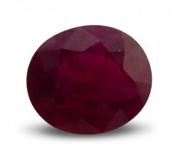 2.36 ct Oval Ruby gemstone