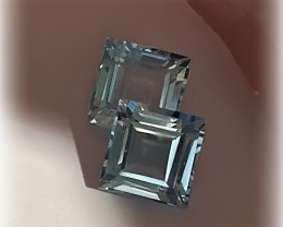 STUNNING TOPAZ PAIR - JEWELLERY GRADE GEMS 6.00MM EACH