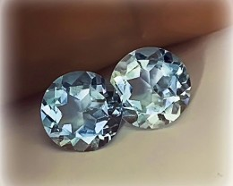 STUNNING TOPAZ PAIR - JEWELLERY GRADE GEMS 7.00MM EACH