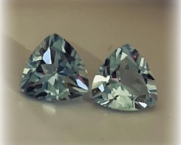 FANTASTIC TOPAZ TRILLIANT PAIR - JEWELLERY GRADE GEMS 7.00MM EACH