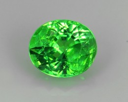 Wow~Natural Vivid Green Tsavorite Garnet Oval Faceted Kenya Gem