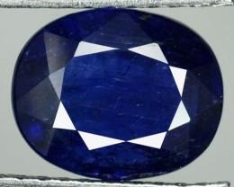4.00 Cts Natural Corundum Blue Sapphire Oval Kanchanaburi