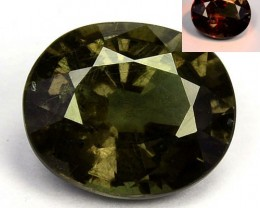 ~LOVELY~ 1.14 Cts Natural Color Change Garnet Oval Cut Tanzania
