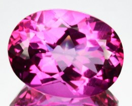 12.33 Cts Candy Pink Natural Topaz 16 x 12 mm Oval Cut Brazil