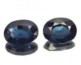 ~PAIR~ 2.19 Cts Natural Deep Blue Spinel Oval Cut Sri Lanka