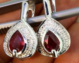 28.55- CTS  RUBY EARRING   SG-2742