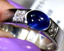 24.75-CTS  BLUE SAPPHIRE RING BLUE AND WHITE  SG-2747