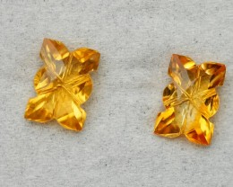 2.95 CRT GOLDEN PAIR CARVING YELLOW CITRINE-