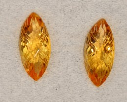 3.85 CRT GOLDEN PAIR CARVING YELLOW CITRINE-