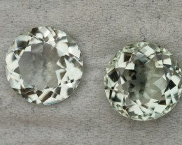 7.15 CRT BEAUTY PAIR GREEN AMETHYST / PRASIOLITE NICE CUT-
