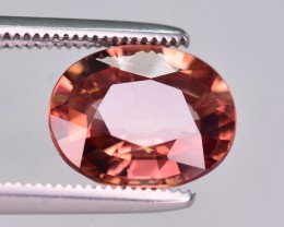 Certified 3.77 Ct Amazing Color Natural Pink Zircon ~ Cambodia