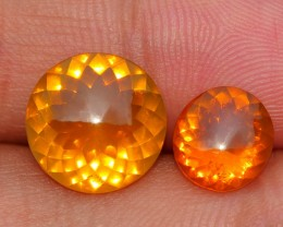 4.50 CRT NATURAL INDONESIAN PAIR FIRE OPAL CUT BEAUTY COLOR