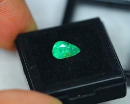 1.24ct Zambia Green Emerald Pear Cut Lot GW2421
