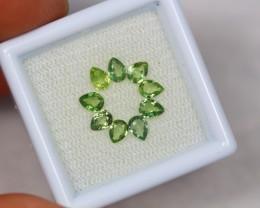 1.55ct Green Sapphire Pear Cut Lot GW2427