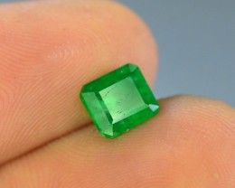 1.10 ct Natural Vivid Green Color Emerald~Swat
