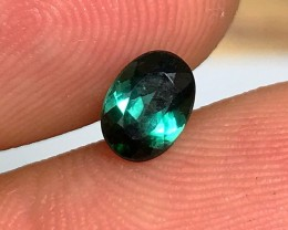 Dark Teal Tourmaline Gemstone