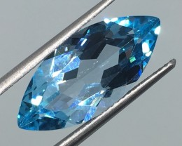 7.40 Carat VVS Topaz Swiss Blue Marquise - Excellante- Quality !