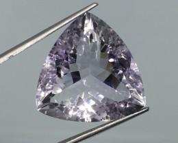 24.38 Carat VVS Amethyst Soft Lavender - Trillion - Absolutely Breathtaking