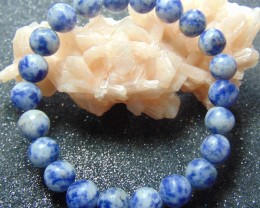 Beautiful beacelet blue sodalite beads stones 90.20 cts