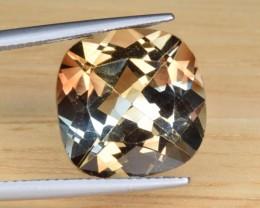 Natural Bi Color Topaz 12.42 Cts Faceted Gemstone