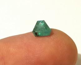Emerald - 0.80 CTS - Intense green - Trillion Cut - Oiled - Brazil
