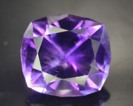 Top Color 7.70 ct AAA Cut Untreated Amethyst
