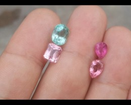 6.50 carats mix color Tourmaline Gemstone From Afghanistan