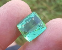 8.40 carats Lagoon color Tourmaline Gemstone From Afghanistan