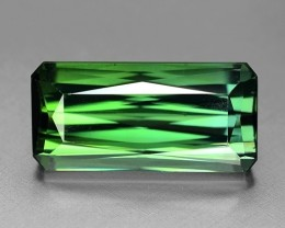 13.70 Cts Untreated Green Tourmaline Awesome Color and Cut Gemstone