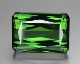 10.24 Cts Untreated Green Tourmaline Awesome Color and Cut Gemstone