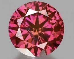 0.69 CT ROSE PINK DIAMOND ROSE  COLOR CERTIFIED