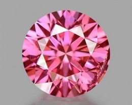 0.34 CT PINK DIAMOND TOP COLOR CERTIFIED