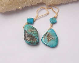 24.25ct Natural turquoise  nugget earring beads   (18091293)